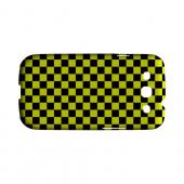 Yellow/ Black - Geeks Designer Line Checker Series Hard Case for Samsung Galaxy S3