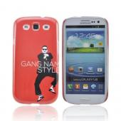 Samsung Galaxy S3 Slim Hard Back Cover - Red Gangnam Style