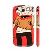 Geeks Designer Line (GDL) Samsung Galaxy S3 Matte Hard Back Cover - Zombie on Red