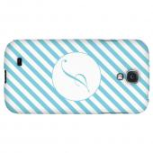 Calligraphy Monogram J on Mint Slanted Stripes - Geeks Designer Line Monogram Series Hard Back Case for Samsung Galaxy S4