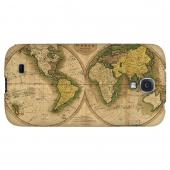 Map of the World Circa 1770's - Geeks Designer Line Map Series Hard Back Case for Samsung Galaxy S4
