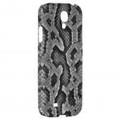 Gray Snake Skin - Geeks Designer Line Animal Print Series Hard Back Case for Samsung Galaxy S4
