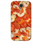 Orange/White Gummy Rings - Geeks Designer Line Candy Series Hard Back Case for Samsung Galaxy S4