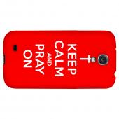 Red Pray On - Geeks Designer Line Keep Calm Series Hard Back Case for Samsung Galaxy S4
