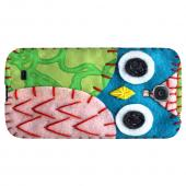 Blue/ Green Owl - Geeks Nation Program Jodie Rackley Series Hard Back Case for Samsung Galaxy S4