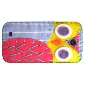 Yellow/ Pink Owl - Geeks Nation Program Jodie Rackley Series Hard Back Case for Samsung Galaxy S4
