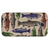 Trout Print - Geeks Designer Line Fish Series Hard Back Case for Samsung Galaxy S4