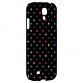 Small & Rainbow on Black - Geeks Designer Line Polka Dot Series Hard Back Case for Samsung Galaxy S4