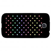 Rainbow Dots on Black - Geeks Designer Line Polka Dot Series Hard Back Case for Samsung Galaxy S4