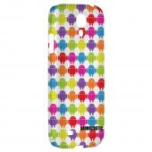 Rainbow Robot Army Design - Geeks Designer Line Androitastic Series Hard Back Case for Samsung Galaxy S4