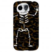 Dancing Skeleton on Witch Hat/Broom/Bat - Geeks Designer Line Monster Mash Series Hard Back Case for Samsung Galaxy S4
