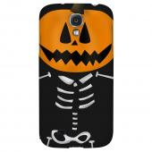 Skeleton w/Jack O' Lantern Head - Geeks Designer Line Monster Mash Series Hard Back Case for Samsung Galaxy S4