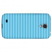 Blue/ White Stripes - Geeks Designer Line Stripe Series Hard Back Case for Samsung Galaxy S4