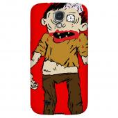 Zombie on Red - Geeks Designer Line Monster Mash Series Hard Back Case for Samsung Galaxy S4