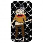 Zombie w/Skull & Crossbones - Geeks Designer Line Monster Mash Series Hard Back Case for Samsung Galaxy S4