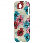 Blue/ Red Floral - Geeks Designer Line Floral Series Hard Back Case for Samsung Galaxy S4