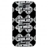 Tribal Art Pattern on Black - Geeks Designer Line Tattoo Series Hard Back Case for Samsung Galaxy S4