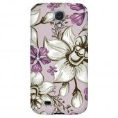 White and Violet Orchids - Geeks Designer Line Floral Series Hard Back Case for Samsung Galaxy S4