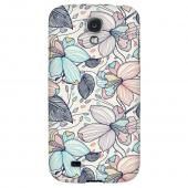 Colorful Orchid Lines - Geeks Designer Line Floral Series Hard Back Case for Samsung Galaxy S4