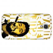 Che Guevara Smoke White Letters on Gold - Geeks Designer Line Revolutionary Series Hard Back Case for Samsung Galaxy S4