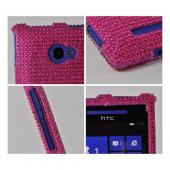 Hot Pink Gems Bling Hard Case for HTC 8X