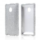 Silver Gems Bling Hard Case for HTC 8XT