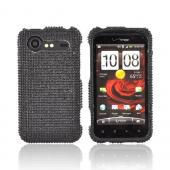 HTC Droid Incredible 2 Bling Hard Case w/ Crowbar - Black Gems