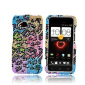 HTC Droid Incredible 4G LTE Bling Hard Case - Artsy Leopard