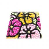 HTC Droid Incredible 4G LTE Bling Hard Case - Green/ Hot Pink/ Yellow Hawaiian Flowers