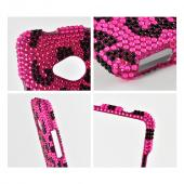 Black Leopard on Pink Bling Hard Case  for HTC One