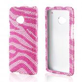Hot Pink/ Baby Pink Zebra Bling Hard Case for HTC One