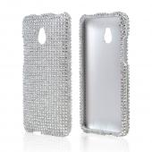Silver Bling Hard Case for HTC One Mini