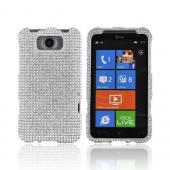 HTC Titan Bling Hard Case - Silver Gems