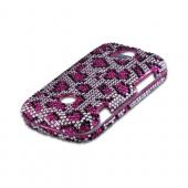 Pink/ Black Leopard Bling Hard Case for Huawei myTouch Q 2