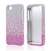 Hot Pink/ Baby Pink Waterfall on Silver Gems Bling Hard Case for Apple iPhone 5C