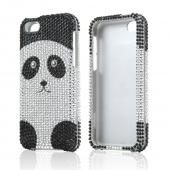 Silver/ Black Panda Bear Bling Hard Case for Apple iPhone 5C
