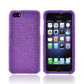 Apple iPhone 5/5S Bling Hard Case - Purple Gems