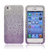 Apple iPhone 5/5S Bling Hard Case - Purple/ Lavender Waterfall on Silver Gems