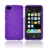 Luxmo Apple Verizon/ AT&T iPhone 4, iPhone 4S Bling Hard Case - Purple