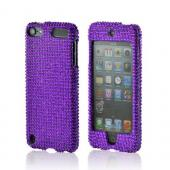 Purple Gems Bling Hard Case for Apple iPod Touch 5