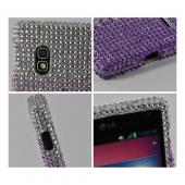 Purple/ Lavender Waterfall on Silver Gems Bling Hard Case for LG Optimus G (AT&T)