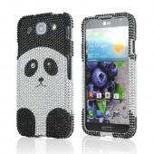Silver/ Black Panda Bear Bling Hard Case for LG Optimus G Pro