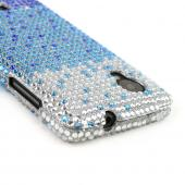 Blue/ Turquoise Waterfall on Silver Gems Bling Hard Case for LG Google Nexus 5