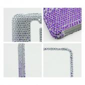 Purple/ Lavender Waterfall on Silver Gems Bling Hard Case for LG G2 (AT&T, T-Mobile, & Sprint)
