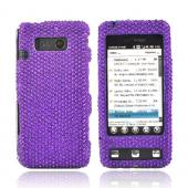 Luxmo LG Fathom VS750 Bling Hard Case - Purple