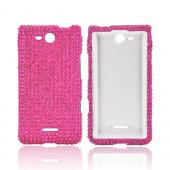 LG Lucid 4G Bling Hard Case - Hot Pink