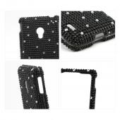 Black Gems w/ White Gems Bling Hard Case for LG Lucid 2