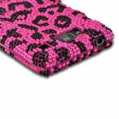 Hot Pink/ Black Leopard Bling Hard Case for Motorola Droid RAZR MAXX HD