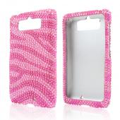 Hot Pink/ Baby Pink Zebra Bling Hard Case for Motorola Droid Mini