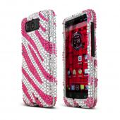 Purple/ Silver Zebra Bling Hard Case for Motorola Droid Mini
